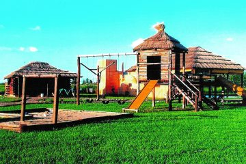 Construcción de Juegos Infantiles de Tronco